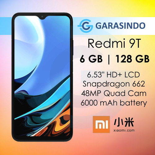 Foto Produk Xiaomi Redmi 9T 6/128 GB 6GB 128GB Garansi Resmi Xiaomi Indonesia - Biru dari Garasi.ku