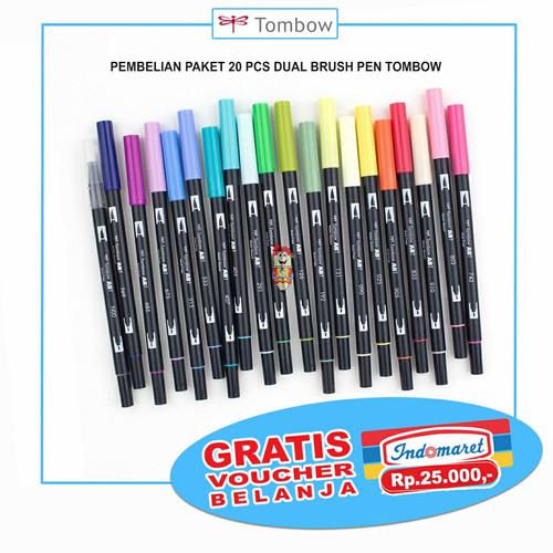 Foto Produk GRATIS VOUCHER !! PAKET Tombow dual brush pen 20 pcs dari Bali Stationery