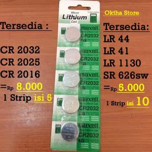 Foto Produk Baterai /Battery Cmos 1 lembar / 1 Strip isi 5 Pcs/ Maxell CR2032 dari Oktha Store