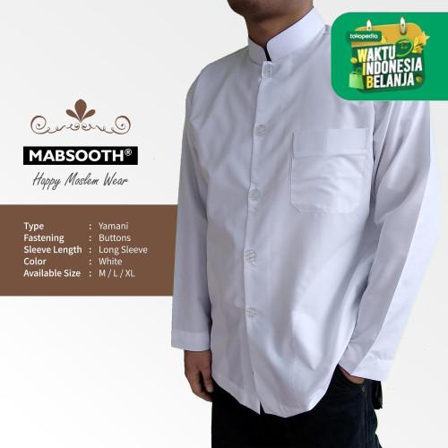 Foto Produk Terbaru! Baju Koko Pria Muslim Dewasa Tangan Panjang - Putih Polos - S dari NSC Online