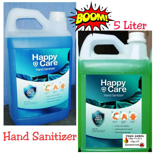 Foto Produk Happy Care 5 liter Cair hand sanitizer alkohol 80% - lemon dari TokoAzril