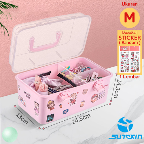 Foto Produk SUNXIN kotak Jepit Rambut Anak-anak / Rak Make Up / RAK KOSMETIK - M dari SUNXIN