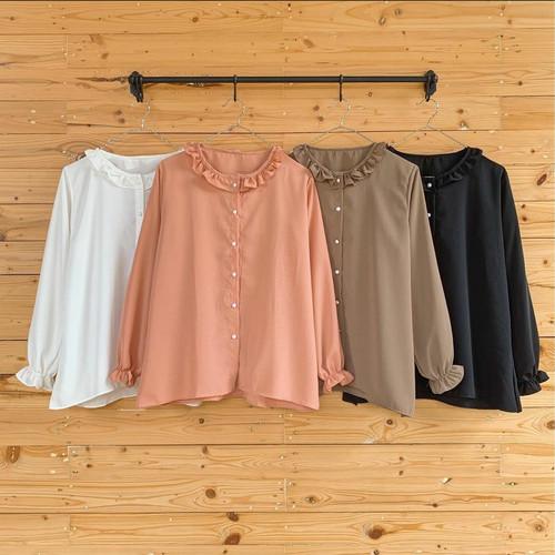 Foto Produk PROMO Baju Atasan Kemeja Blouse Valery Wanita Lengan Panjang Murah - Ungu dari Jeant Boutique