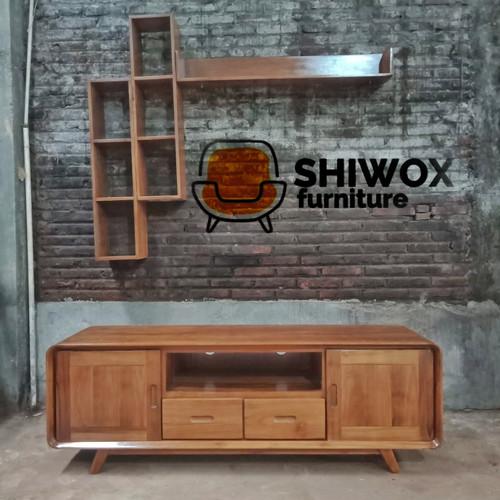 Foto Produk Meja tv retro - rak tv modern retro Bahan kayu jati dari rafa jaya teknik