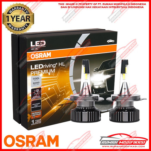 Foto Produk OSRAM - LED HEADLIGHT - H4 - HIGH LOW - 6000K PUTIH - 25 WATT dari Rumah-Modifikasi
