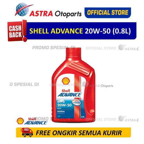 Foto Produk Shell Advance AX3 20W-50 0.8 Liter dari Astra Otoparts