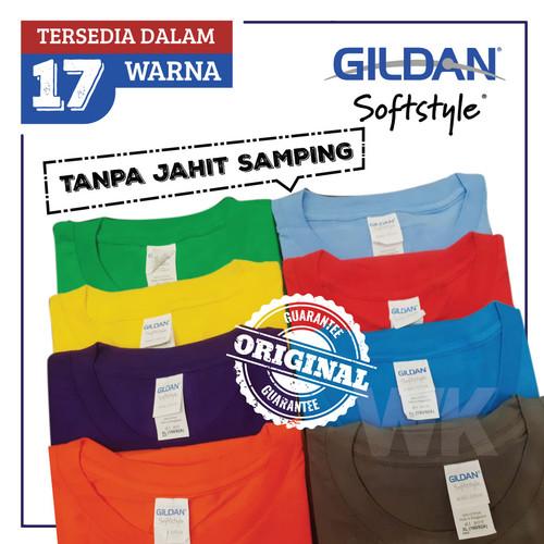 Foto Produk Kaos Gildan Softstyle Tanpa Jahitan Samping - READY STOCK dari Workha Store