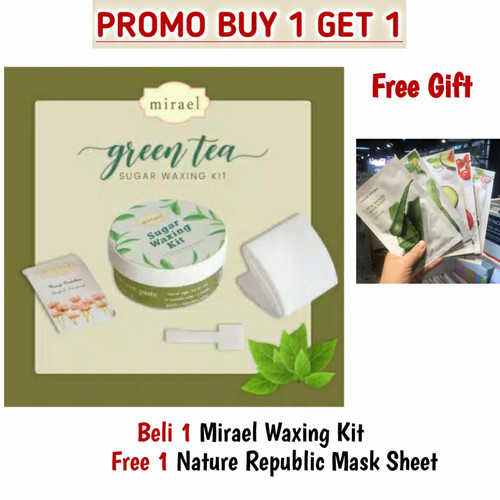 Foto Produk Mirael Sugar Waxing Kit for Hair Removal Penghilang Bulu Rambut Badan - Green Tea dari d&d olshop