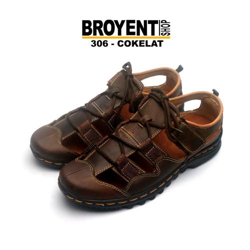 Foto Produk Sepatu Sandal Pria Kulit Asli 306 - Orange, 39 dari Broyent-shop