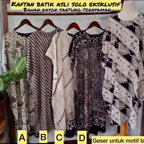 Foto Produk Daster Kaftan Batik Asli Solo Rayon Ternyaman Anggun dari MEERZAstore