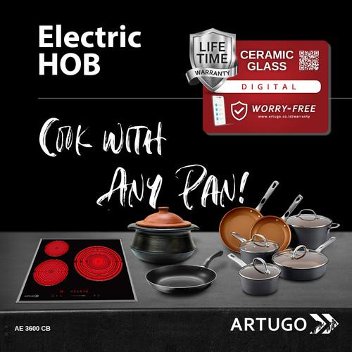 Foto Produk ARTUGO Built-in Electric Hob AE 3600 CB dari ARTUGO official store