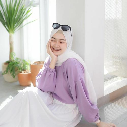 Foto Produk PROMO Baju Atasan Blouse Lucy Lengan Balon Model Korea Wanita Murah - Kuning dari Jeant Boutique