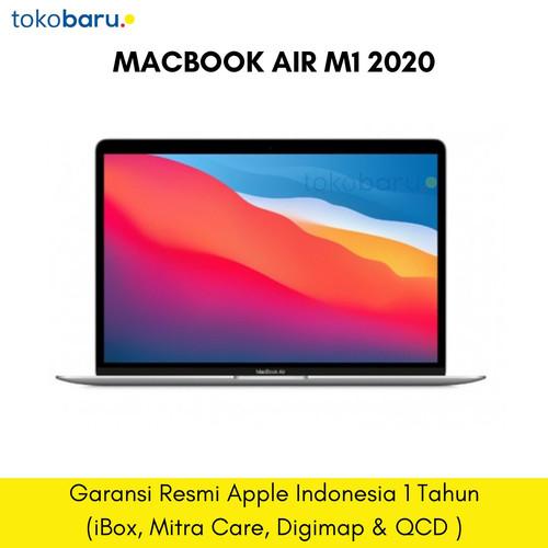 Foto Produk Apple MACBOOK AIR 2020 M1 CHIP 256GB RAM 8GB Garansi IBOX - SILVER dari tokobaru_official