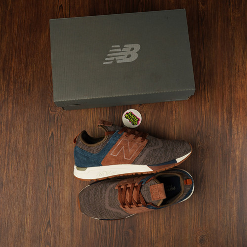 Sepatu New Balance Men 247 Luxe Knit Mrl247lb Brown Tan Nubuck