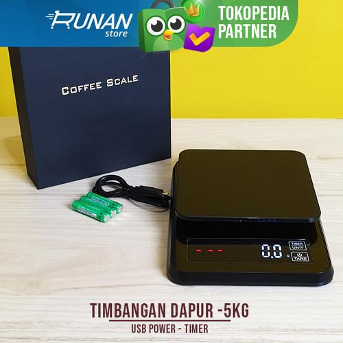 Foto Produk Timbangan Kopi Coffee Scale 5kg Timbangan Dapur Dengan Timer USB Power dari Runan Store