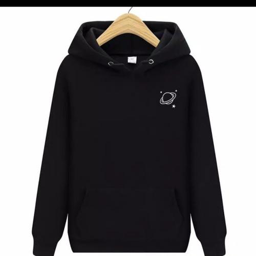 Foto Produk sweater hoodie planet wanita pria jaket planet jumper saturnus uranus - uranus hitam dari F2_Sweater