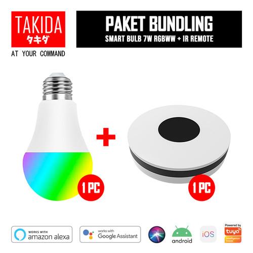 Foto Produk TAKIDA Bundle Promo - Smart Bulb 7W RGBWW + IR Remote dari TAKIDA Smart Home