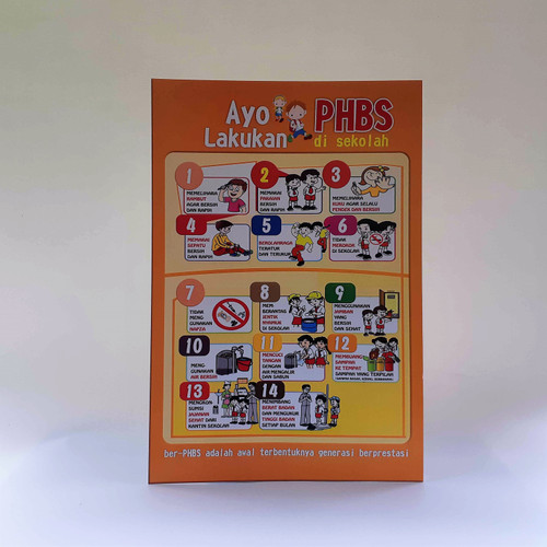 Foto Produk Poster PHBS Anak Sekolah dari Syafana