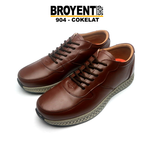 Foto Produk Sepatu Sneaker Pria Casual Kulit Asli 904 - Hitam, 39 dari Broyent-shop