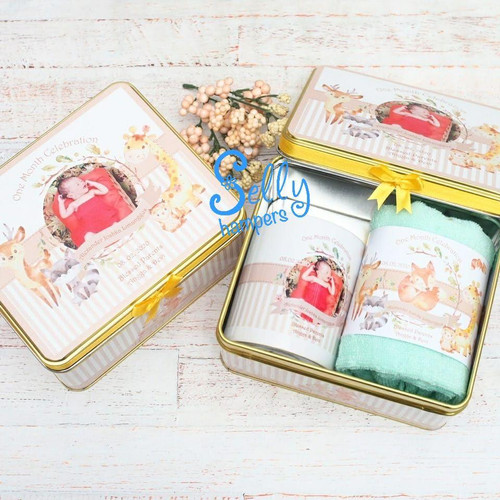 Foto Produk Souvenir Giorgio/ Souvenir baby one month / hampers/ souvenir mug dari Selly Hampers