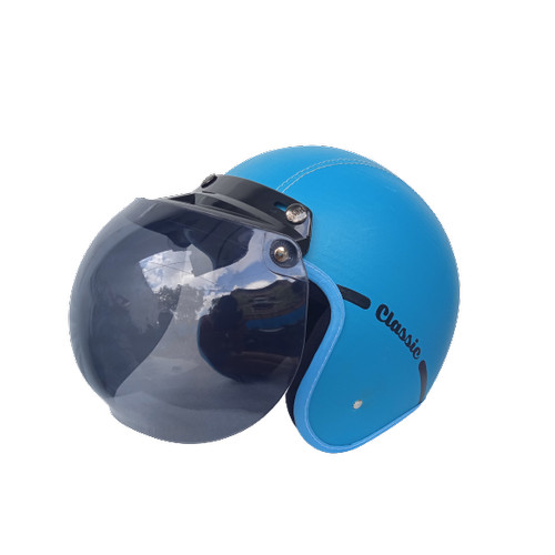 Foto Produk Helm bogo dewasa motif sadarosa deangan kaca bobo original - Biru dari Jalur Kanan