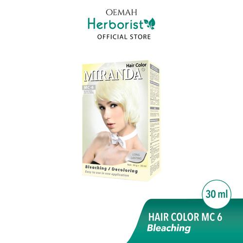 Foto Produk Miranda Hair Color (Cat Rambut Permanen) MC6 Bleaching 30ml dari Oemah Herborist