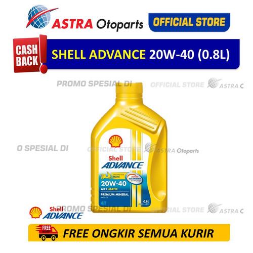 Foto Produk Shell Advance AX5SC 20W40 0.8 L untuk Motor Matic 550048593 dari Astra Otoparts