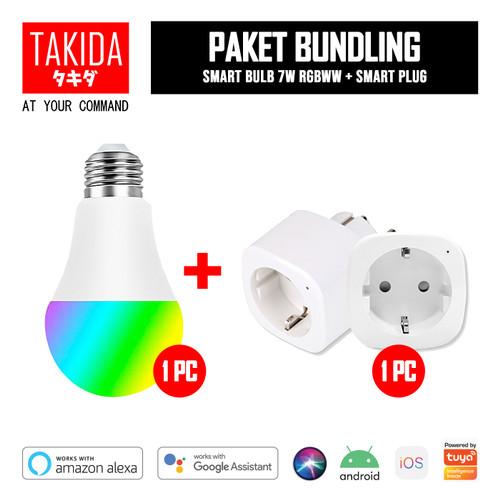 Foto Produk TAKIDA Bundle Promo - Smart Plug + Smart Bulb 7W RGBWW dari TAKIDA Smart Home