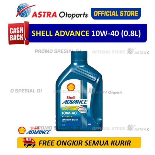 Foto Produk Shell Advance AX7SC 10W40 0.8 L untuk Motor Matic dari Astra Otoparts