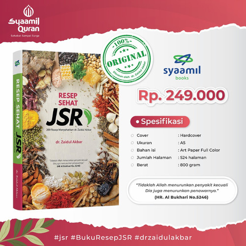 Foto Produk Buku Resep Sehat JSR Syaamil Warna, Buku Jurus Sehat Rasulullah Syamil dari ALIDA