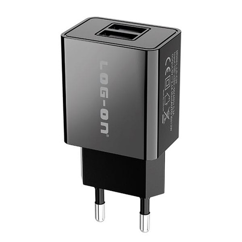 Foto Produk Log On Home Charger Dual USB 2.4A LO-C29 - Black dari Log-on Official Store