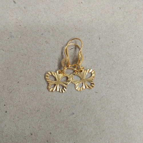 Foto Produk anting desi bandul kupu2 ukir 1/2 gram emas muda dari pj hobby