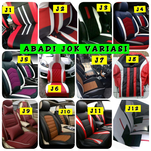 Foto Produk Sarung Jok Mobil CALYA - Kombinasi 3 Warna - Full Seat 3 Baris dari abadi cover seat