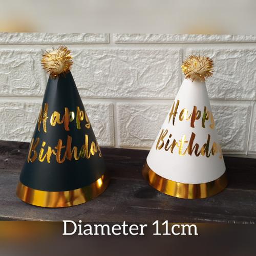 Foto Produk Topi pesta ulang tahun anak birthday party hat / Topi ulang tahun 11cm - Hitam dari Ivoryshop