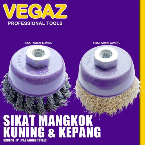 Foto Produk VEGAZ - Sikat Gerinda Mangkok Kawat Cup Brush Polishing Wheel 3 Inch dari Vegaz-Tools