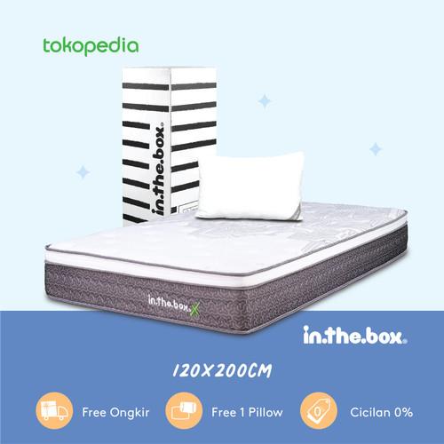 Foto Produk Kasur Spring Bed Inthebox X Ukuran 120 x 200 (Full) FREE SHIPPING dari INTHEBOX Official Store