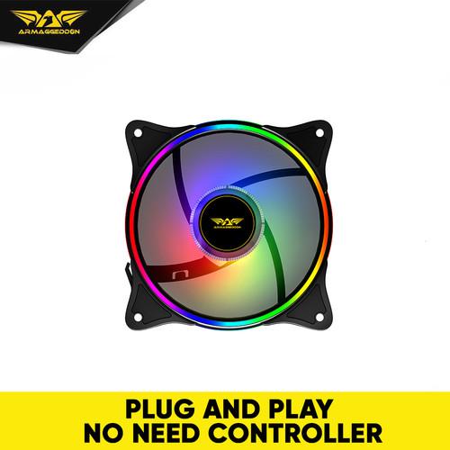 Foto Produk Armaggeddon Neuron Chroma Core Ring II RGB Gaming PC Cooler Fan - 1 pc dari Armaggeddon Official
