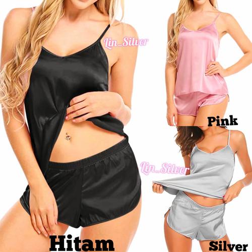 Foto Produk Setelan Baju Tidur Transparan Lingerie Seksi Wanita Big Size XL - Merah Muda, all size dari Lin Silver