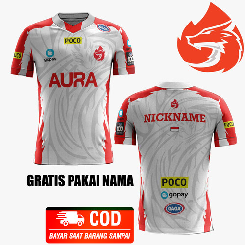 Foto Produk Baju Kaos Jersey Aura Esport T-Shirt Gaming Team 2021 Free Fire Mobile - ANAK, S dari martines_shop