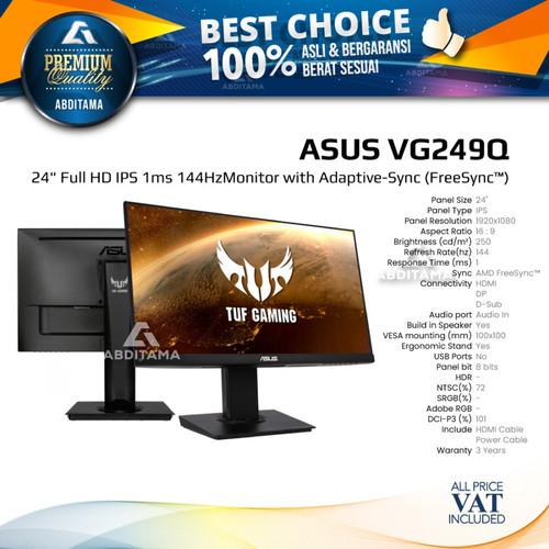 """Foto Produk Monitor LED Gaming Asus VG249Q 24"""" 1920x1080 1ms 144Hz IPS HDMI DP dari Abditama Official"""
