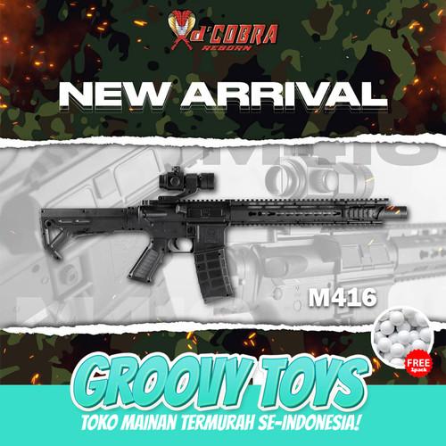 Foto Produk Mainan Tembakan Kokang Full Set Spring - DCobra M416 COBRA dari GROOVYTOYS