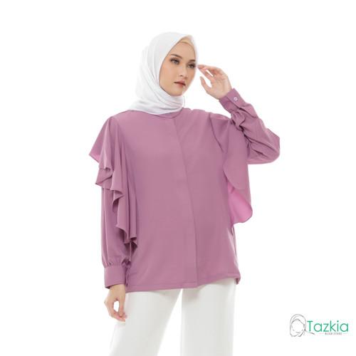 Foto Produk Atasan Muslim Wanita | Calista Blouse Lilac | S M L XL | Tazkia Hijab - M dari Tazkia Hijab Store
