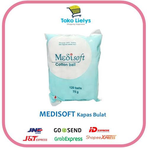 Foto Produk Medisoft Cotton Ball 120 ball Bola Kapas Bulat Bayi dari i do my hobbies