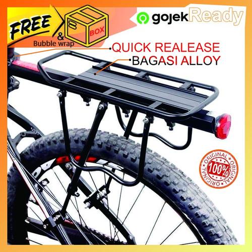 Foto Produk Boncengan Sepeda Belakang Aluminium Alloy Adjustable Ringan kokoh - Hitam dari tokopekita online