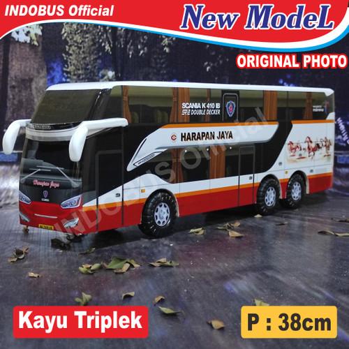 Foto Produk INDOBUS Miniatur Bus Bis Harapan Jaya Sr2 Double Decker dari Indobus Collection