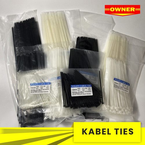 Foto Produk Kabel Ties / Kabel Tis 10cm / 15cm / 20cm / 25cm / 30cm isi 100 - 3,6X25CM, Hitam dari Yozuri STS