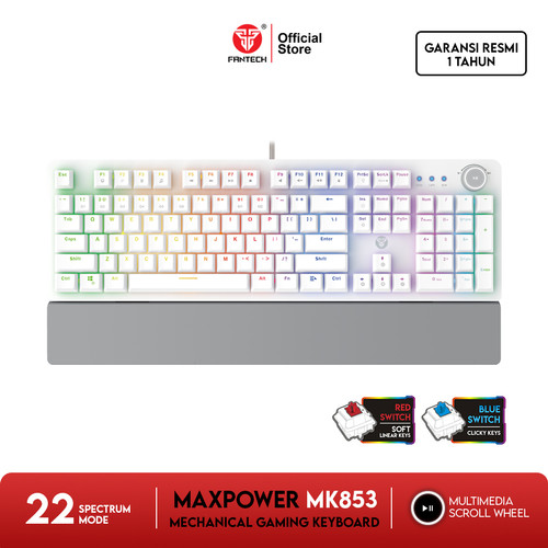 Foto Produk Fantech MAXPOWER MK853 Mechanical Keyboard Gaming SPACE EDITION - Blue Switch dari Fantech Official Store