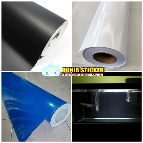 Foto Produk skotlet stiker kaca aquarium/ stiker background akuarium putih hitam d - biru doff, 25cmX120cm dari STICKER KACA FILM04