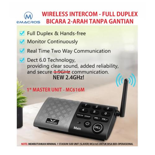 Foto Produk Wireless Intercom Full Duplex Interkom Master Unit - eMACROS MC616M dari EtalaseBelanja