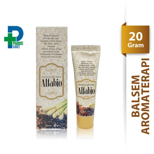 Foto Produk Alfabio Balsem Aroma Terapi 20 gram/Nyeri Otot/Kembung/Masuk Angin dari Pharos Official Store